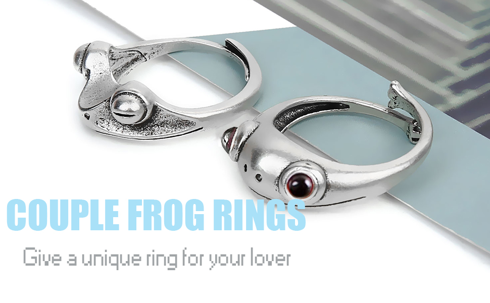 Romantic Gift For Her Nani Frog Ring, Sterling Silver Frogs Ring Animal Ring Mother Animal ring