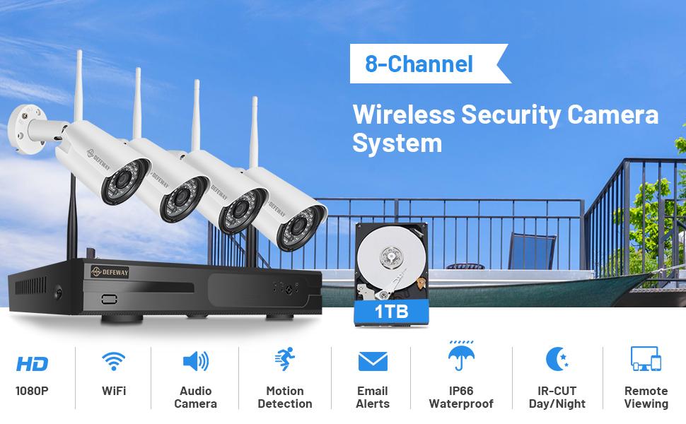 wireless 8 channel 4cameras