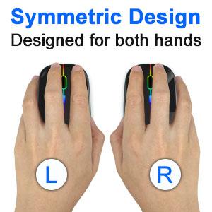 both hands using
