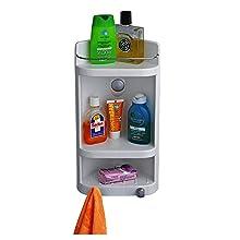 Cipla Plast Multipurpose Bathroom corner medicine cabinet shelf organizer wall mount caddy