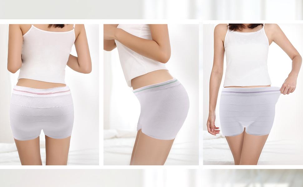 Amazon.com: Mesh Postpartum Underwear High Waist ...