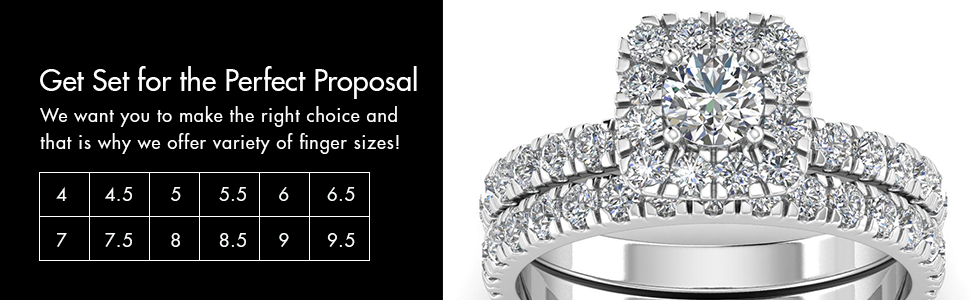 Diamond Ring in finger size