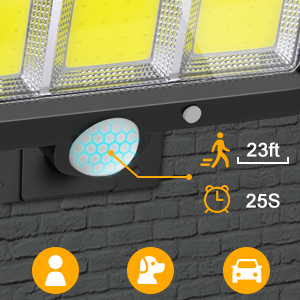 solar flood lights outdoor motion sensor