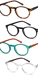 the gamma ray round lens reading glasses are stylish and can be worn by men and women