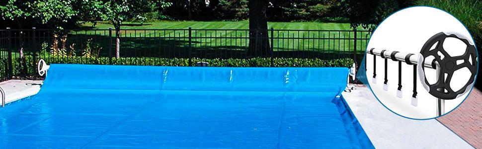 Universal In-Ground Swimming Pool Solarabdeckung Rollen-Kit Nylonband /& Schnalle