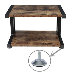 Scanner OROPY Vintage Printer Stand with 2 Tier Wood Storage Shelves Files Multi-purpose Desk Organizer for Fax Machine Books with Adjustable Anti-Skid Feet