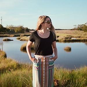 KAVU Vonn High Waisted Button Up Skirt - Casual Summer Dress with Pockets