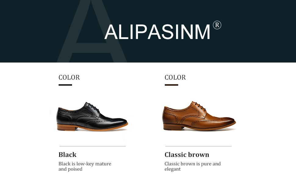black &brown dress shoes for men