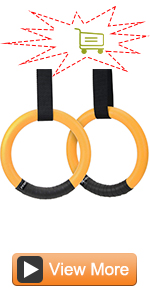Gymnastic Rings with Adjustable Straps & Metal Buckles