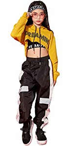 LOLANTA Boys Girls Fashion Jumpsuit Zip-Front Coveralls Hip Hop Street Dance Outfit