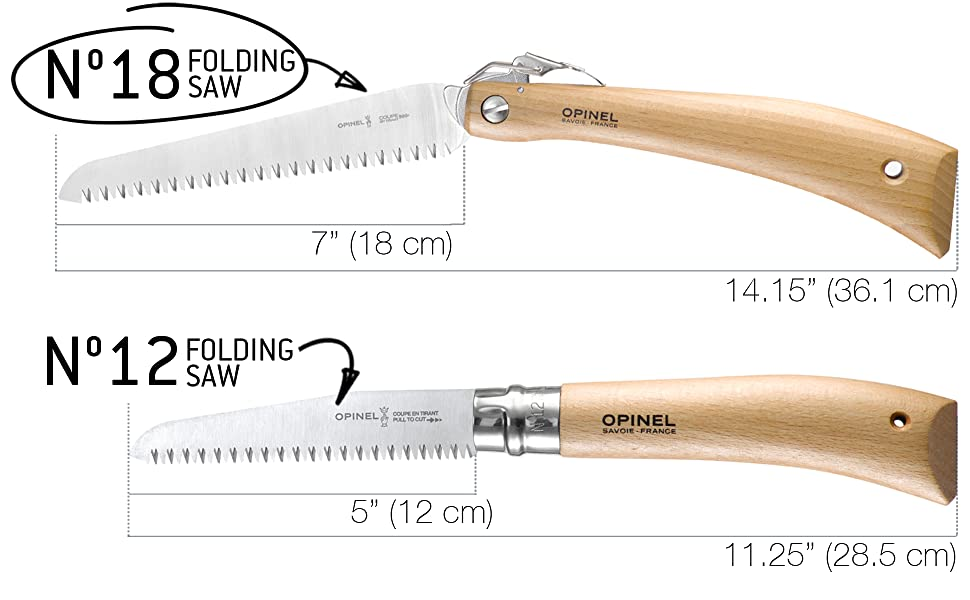 Opinel folding saw no. 12 18 wood firewood tree cutting camping hiking outdoors