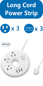 10ft extension cord with usb