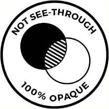 not see through 100% opaque