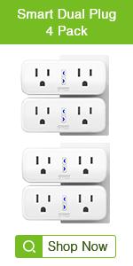 Gosund Dual Smart Plug 4Pack