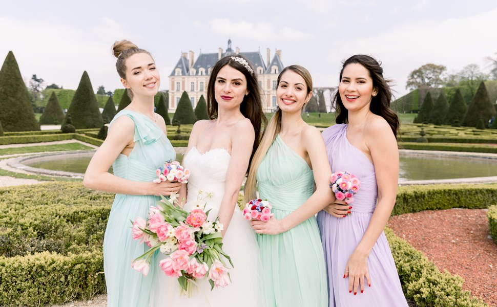 alicepub chiffon bridesmaid dress