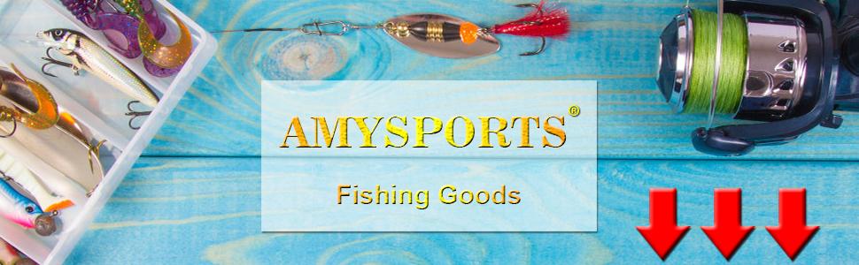 AMYSPORTS fishing snap swivel