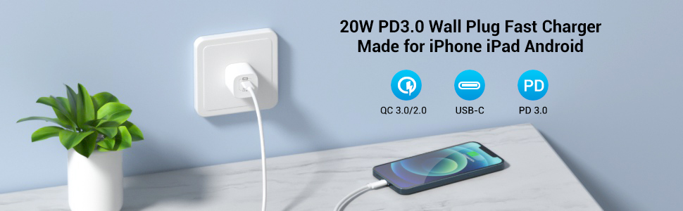PD usb c quick wall charger
