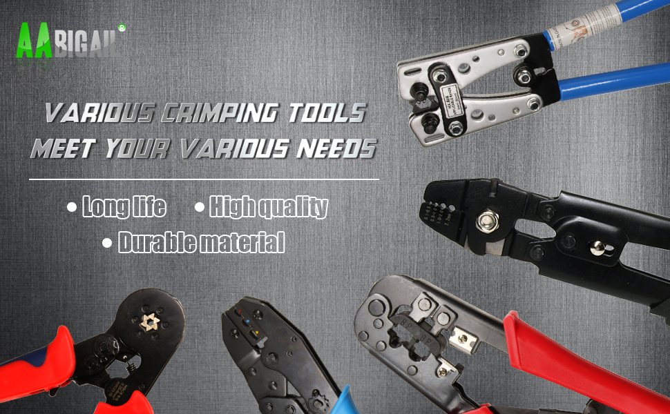 Ratcheting Wire Terminal Crimping Tool