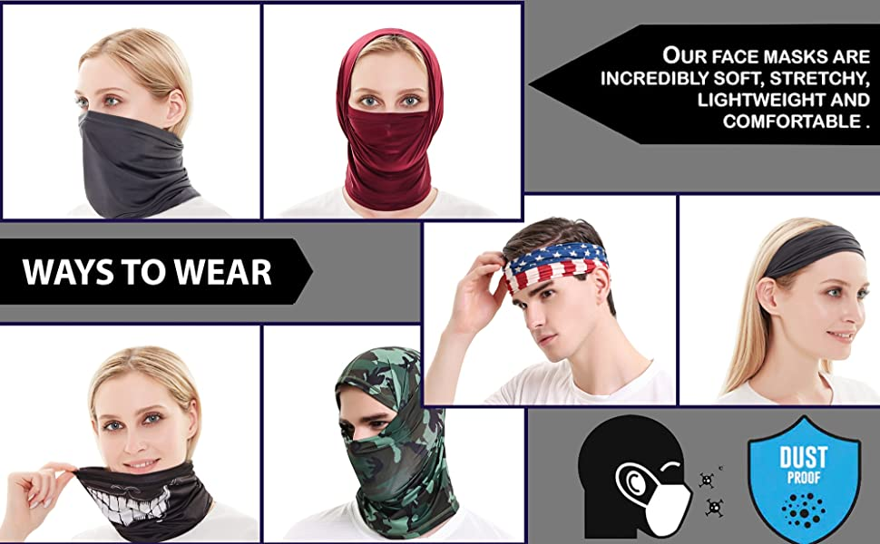 face mask neck mask neck gaiter balaclava protection dust bandana