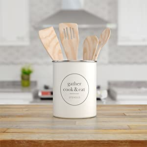 Life style pic of Metal Utensil Crock Holder