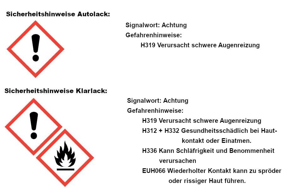 Ludwiglacke 787 Mountaingrau Für Mercedes Lackstift Set Autolack Klarlack Je 60ml Auto