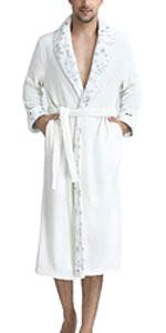 Flannel Fleece Lined Long Homewear