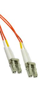 LC/LC OM1 Multimode Duplex Fiber Optic Cable, 62.5/125