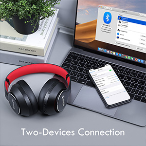 Wired Wireless active noise cancelling headphones