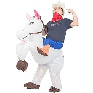 WHITE HORSE RIDER BLOW UP
