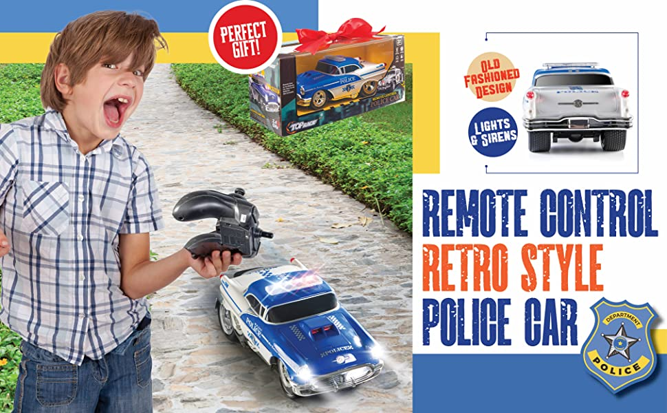 remote control police car for 3 4 5 6 7 8 9 gift toys