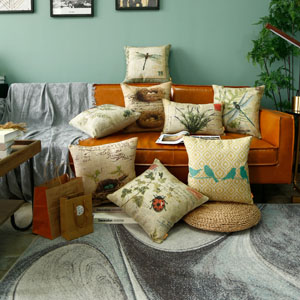 LINKWELL Farmhouse Pack of 2 Throw Pillow Cover 20x12