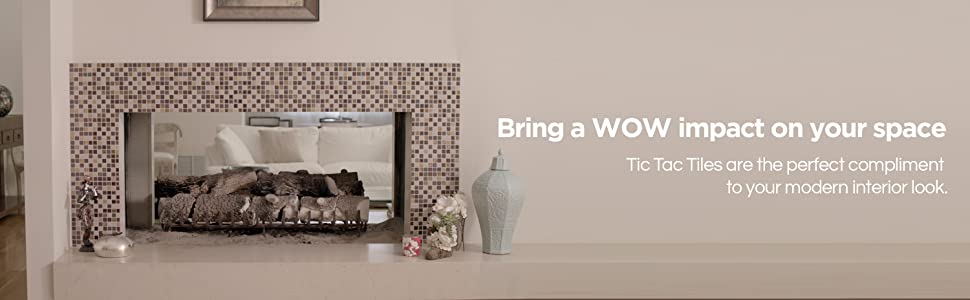 tic tac tiles are the perfect tiles for wall, backsplash, fireplace