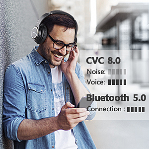 over ear headset  Active Noise Cancelling Headphones, AIKELA Wireless Bluetooth Over Ear Headset with Deep Bass Hi-Fi Sound Soft Earbuds 30H Playtime Fast Charging ANC Headphone for Online Class Travel Home Office b74cbeeb 4633 4c8b b9a8 9f0a262371ac
