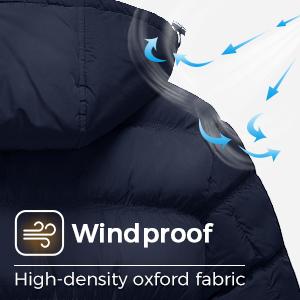 windproof ladies jacket down