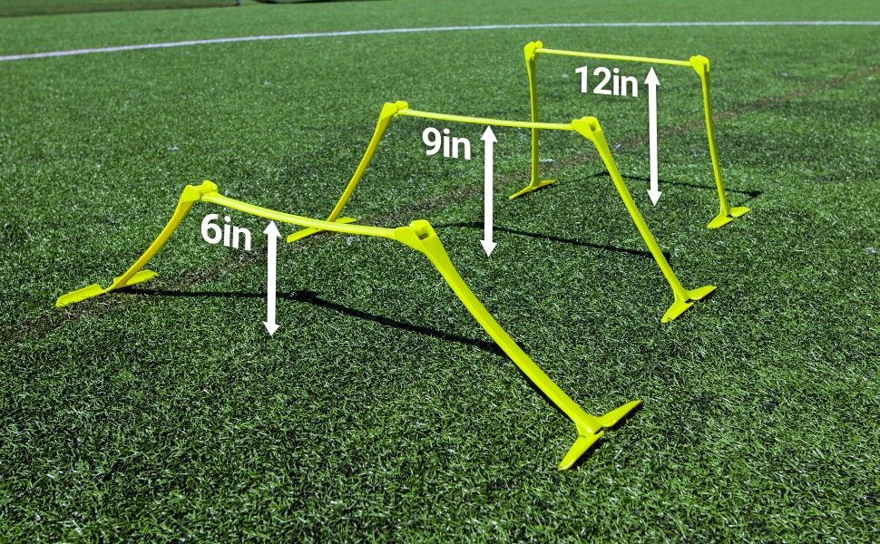 """Details about  /6/"""" Speed /& Agility Fitness Training Hurdles Aid jump with Adjustable Height 5PCS"""