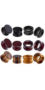 wooden ear gauges