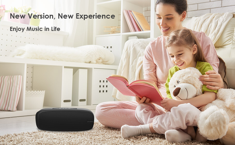 speaker wireless  LENRUE Bluetooth Speaker, Wireless Portable Speaker with Loud Stereo Sound, Rich Bass, 12-Hour Playtime, Built-in Mic. Perfect for iPhone, Samsung and More b751617a 9387 4b14 b614 d7dd3aa39412