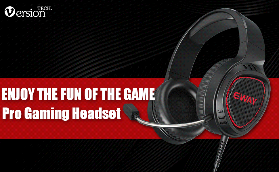 LED Gaming Headset for PS4 Xbox One PC, 3.5mm Wired Stereo Headphones with 7-Color LED Lights