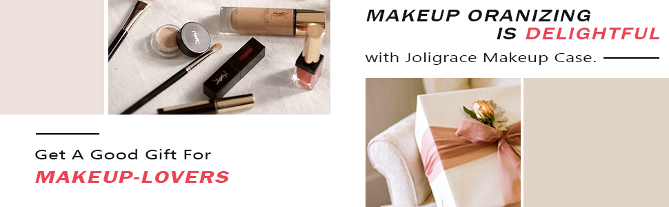 joligrace makeup bag organizer travel gift
