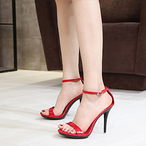 Women's Stiletto Sandals Open Toe Sexy Dress Ankle Strap Heeled Pumps Wedding Party High Heels