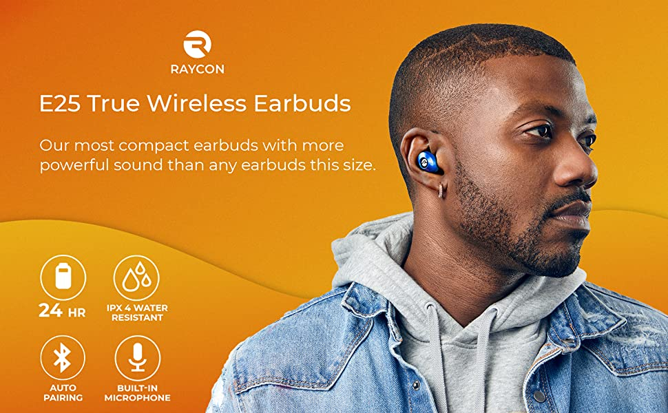 Amazon Com Raycon E25 Wireless Earbuds Bluetooth Headphones Bluetooth 5 0 Bluetooth Earbuds Stereo Sound In Ear Bluetooth Headset True Wireless Earbuds 24 Hours Playtime And Built In Microphone Rose Gold Home Audio Theater