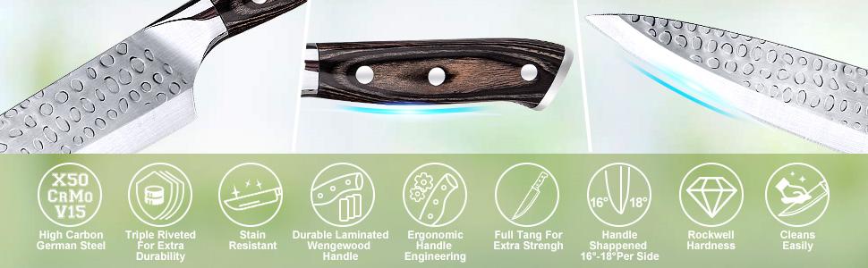 knife set 16 pcs