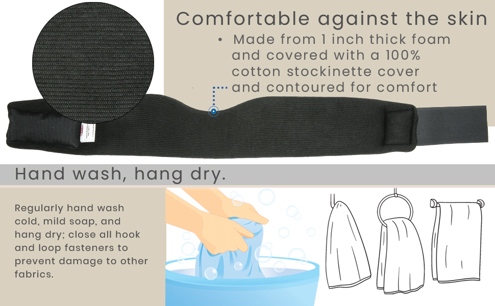 Comfortable cervical collar washing instructions