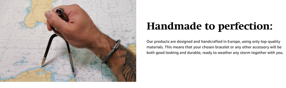 Our waterproof bracelets are handmade to perfection
