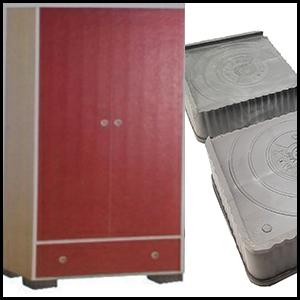 DALUCI 4 Pieces Almirah  Wardrobe Refrigerator Stand Grey Black Washing Machine Stand Furniture Base
