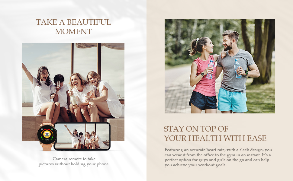 Smartwatch for women sport to heart rate blood pressure