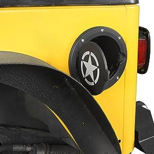 Jeep tj fuel filler cover