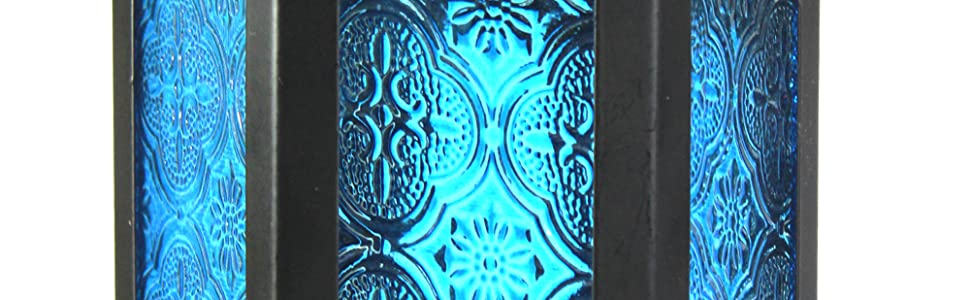 Floral pattern embossed glass