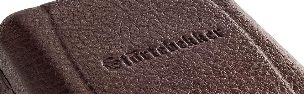 Störtebekker® Maquinilla de afeitar clásica en estuche de cuero hecho a mano [10 hojas Astra] - Cuchilla de afeitar de primera calidad - Set de afeitado con espejo integrado: Amazon.es: Salud y