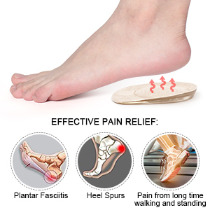 Heel Cup Gel Silicone Foot Cushion Ankle Pain Relief Walking Shock Absorbent Protection Support